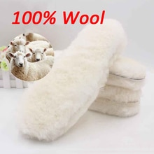 Natural Sheepskin Insoles Winter Real Fur Wool insoles Men Women Warm Soft Thick warm Cashmere Snow