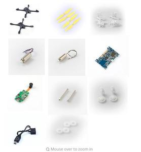 Hubsan X4 Star Pro H507A RC Quadcopter Spare Parts motor gear blade motor seat shaft Flight control board body shell etc