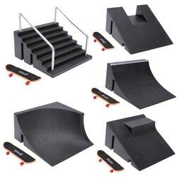 Пластиковый мини скейтборд для пальцев, фингерборд, игрушки, скутер для пальца, скейт, скейтборд, скейтборд для пальцев, тренировочная доска + трек для детей