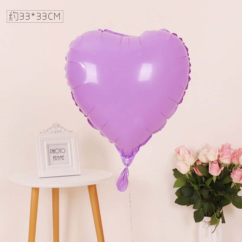 1pc Thicken 18 inch macaron candy color  star balloons heart-shaped Foil ballon wedding party decoration Birthday floating bal
