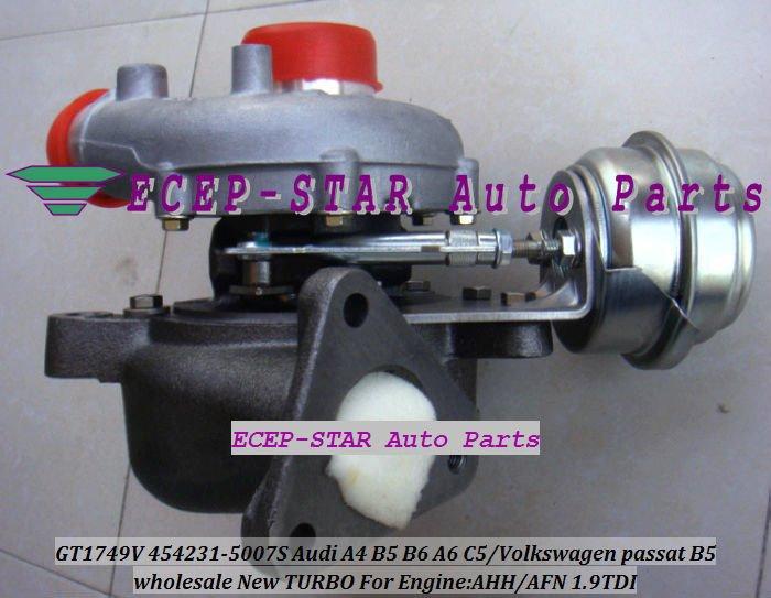 Envío Gratis GT1749V 454231-5007S 454231-5005S 454231 Turbo turbocompresor para AUDI A4 B5 B6 A6 C5 VW passat B5 97-AHH AFN 1.9L TDI