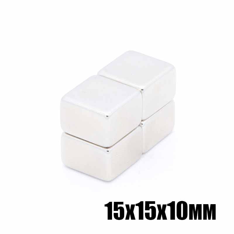 20pcs 15x15x10 mm Super Powerful Strong Rare Earth Block NdFeB Magnet Neodymium Magnets 15mm*15mm*10mm Free Shipping