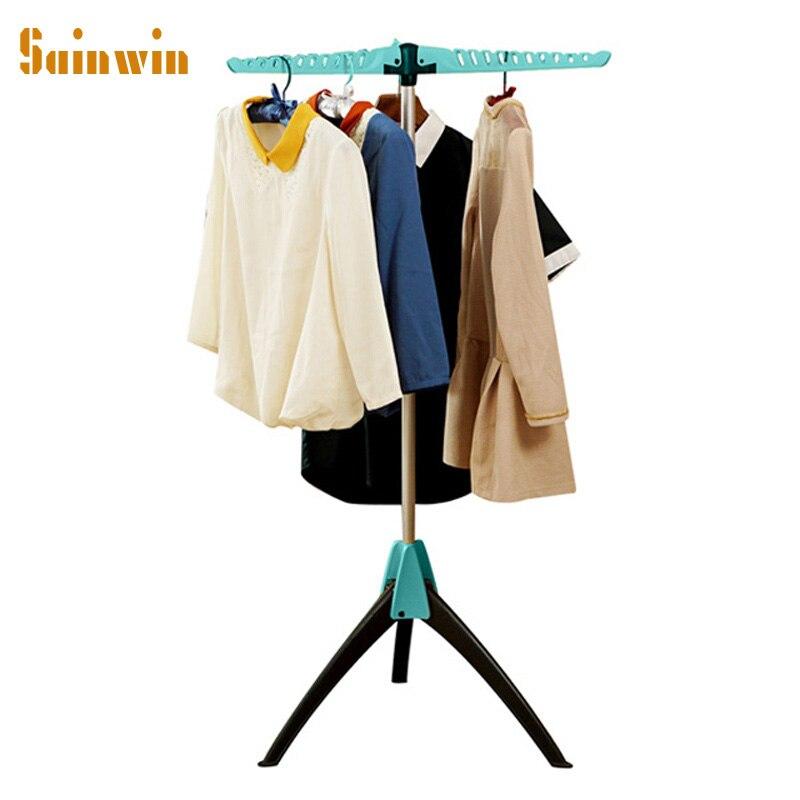 Sainwin 1 قطعة متعددة الوظائف شماعات الملابس البلاستيكية المعدنية الشماعات للملابس ماجيك الملابس تجفيف الرف للطي رفوف السفر