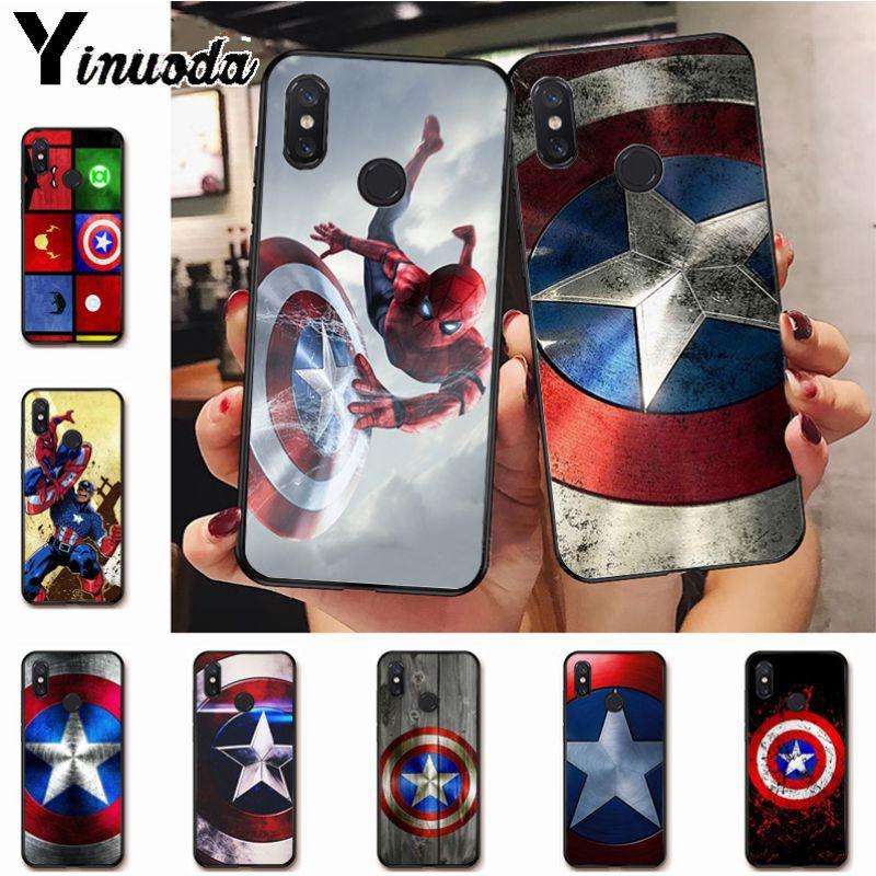 Ynuoda Marvel Hero Captain America On Sale! Luxury Cool phone Case for xiaomi mi 8se 6 note2 note3  redmi 5 plus note5 cover