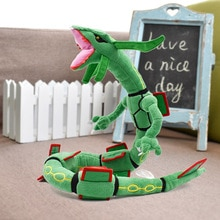Envío Gratis, 80 cm, juguetes de peluche verdes Rayquaza, figura de Anime de peluche
