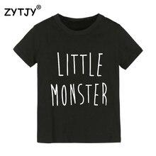 작은 괴물 편지 인쇄 어린이 tshirt 소년 소녀 t 셔츠 어린이위한 유아 의류 재미 tumblr 탑 티 드롭 선박 Y-129