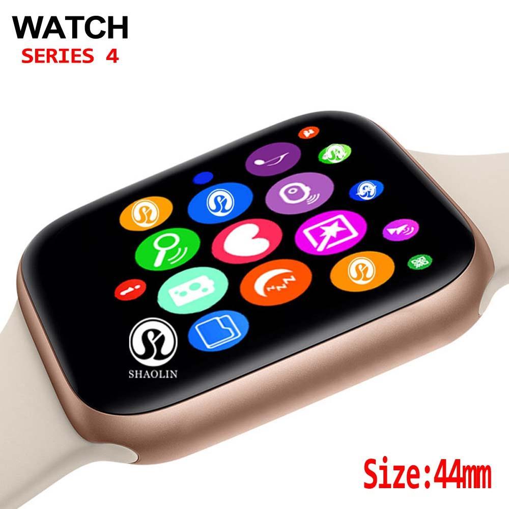 44 مللي متر سلسلة ساعة ذكية 4 ساعة مزامنة المخطر دعم الاتصال ل أبل سلسلة ساعة 5 آيفون 8 X أندرويد الهاتف Smartwatch
