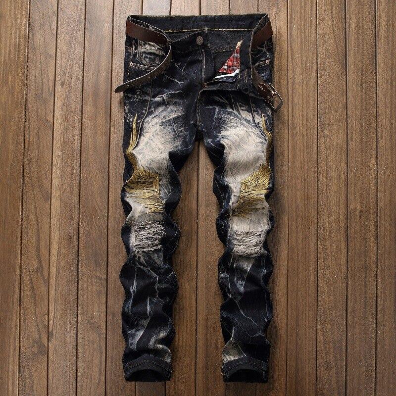 Nueva marca de vaqueros para hombre, pantalones vaqueros informales elásticos de color...