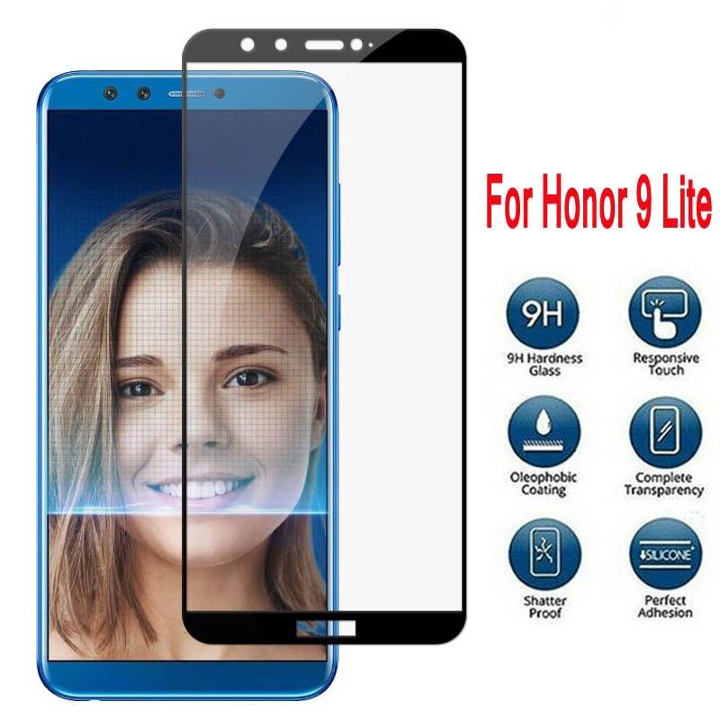 Protector de pantalla para Huawei Honor 9 lite, cristal para Honor Honer 9 lite 9, cristal Protector claro, película de vidrio templado, cubierta HD