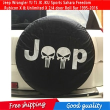Reservewiel Cover Voor Jeep Wrangler Yj Tj Jk Jku Sport Sahara Vrijheid Rubicon X & Onbeperkt X 2/4 Deur roll Bar 1995-2016
