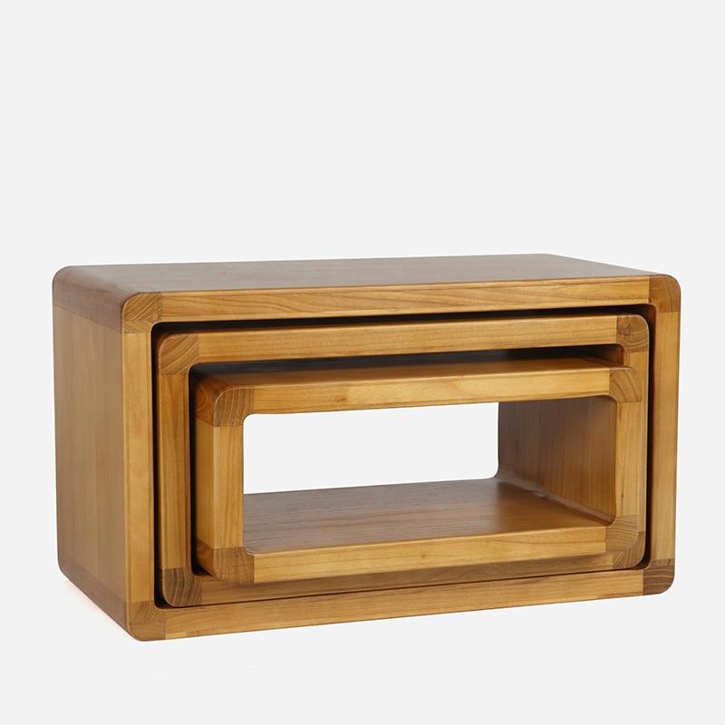Banco de zapatos de madera maciza, Banco de combinación para sala de estar, mesa de café de Taburete bajo creativo, taburete de tocador, banco para padres e hijos