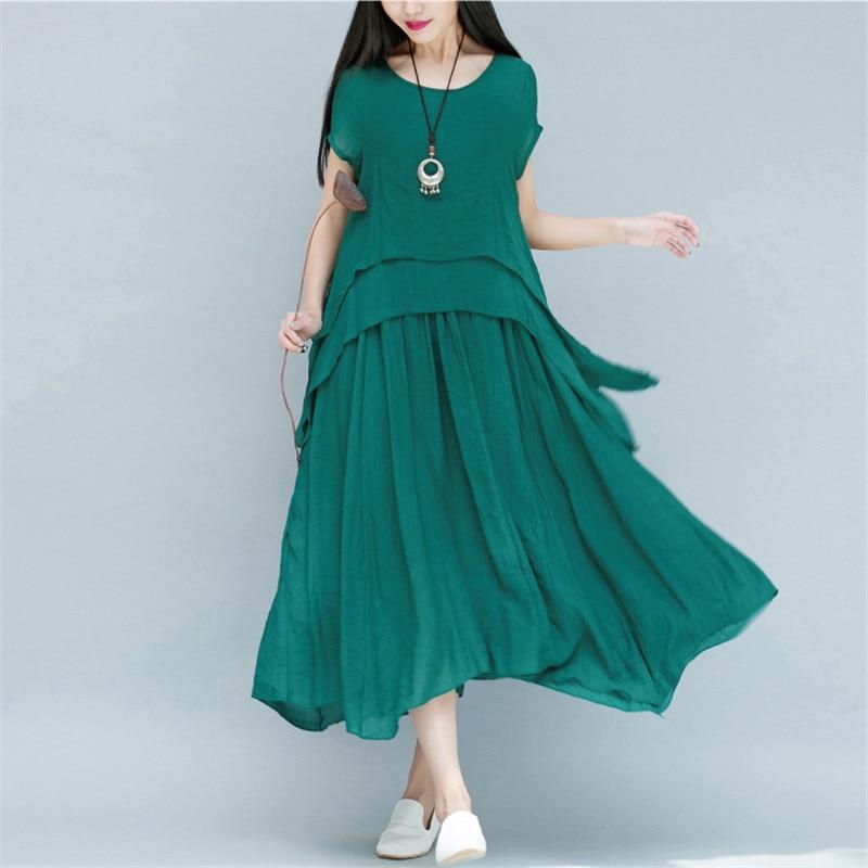 Платье женское, винтажное, длинное, зеленого цвета, цвета белый, хаки, M-2XL, LD1043