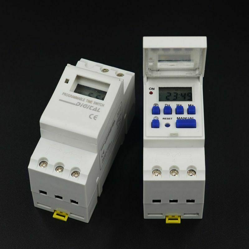 مؤقت رقمي قابل للبرمجة ، مفتاح تيار متردد 220 فولت/11 CE DIN RAIL ، 16 مجموعة