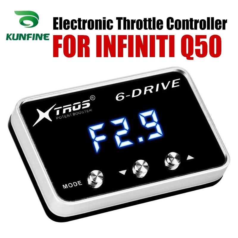 Controlador do acelerador eletrônico do carro corrida acelerador poderoso impulsionador para infiniti q50 tuning peças acessório