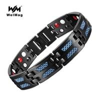 welmag fashion charm magnetic bracelets health energy titanium hologram bracelets bangles trendy lovers wristband jewelry