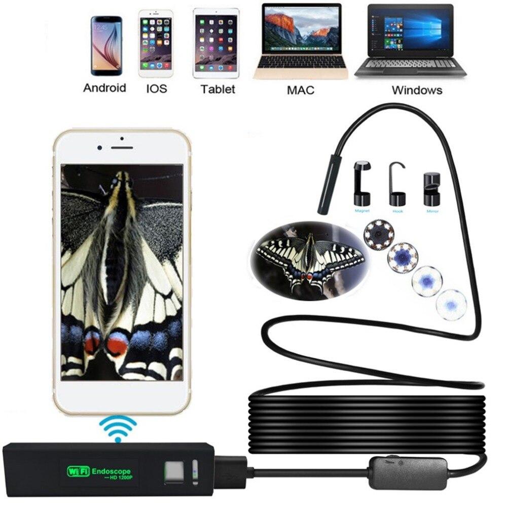 HD 1200 P WiFi Câmera de Inspeção Endoscópio Ouvido 3.5 m Tubo 8mm 8 Lente LEVOU Com Transmissor Sem Fio À Prova D Água cleaner Ear Ear Escolha