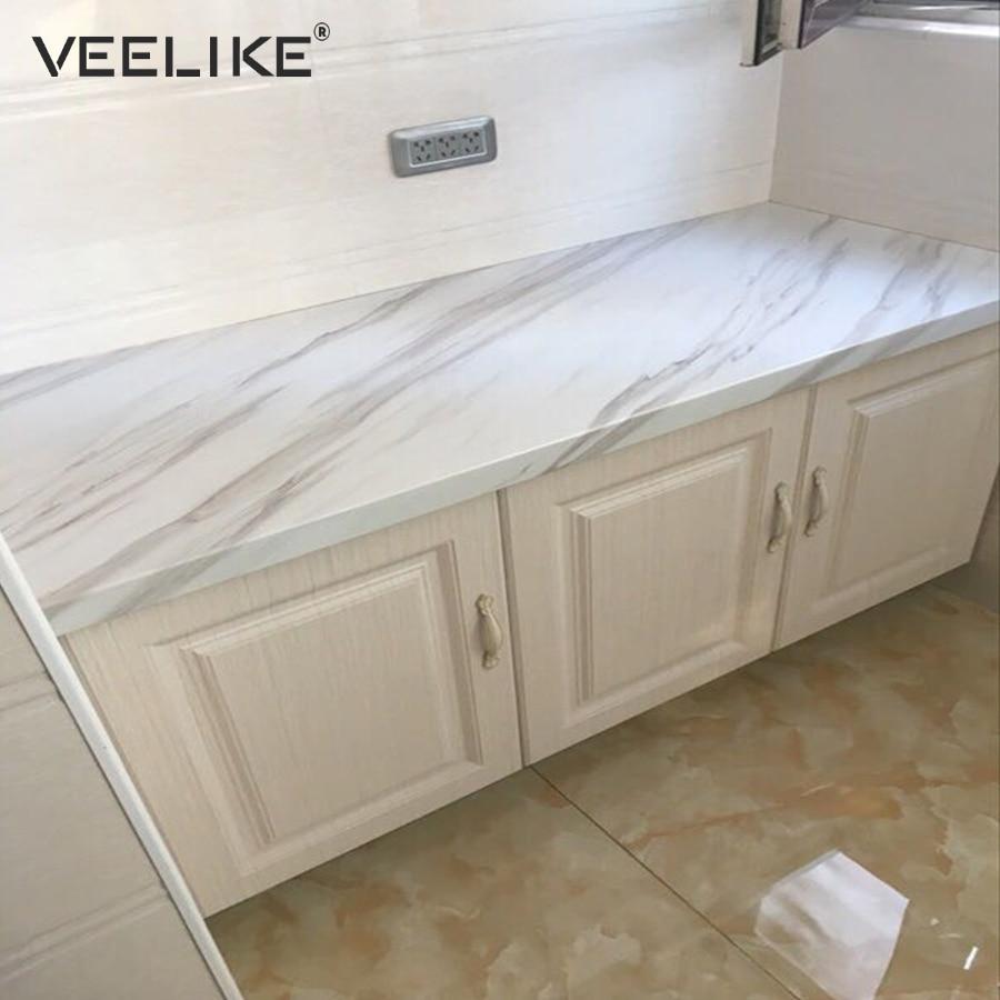 Papel pintado autoadhesivo extraíble para baño para encimeras de cocina gabinete de pelar y pegar revestimiento para estantes papel de Contacto de vinilo mármol