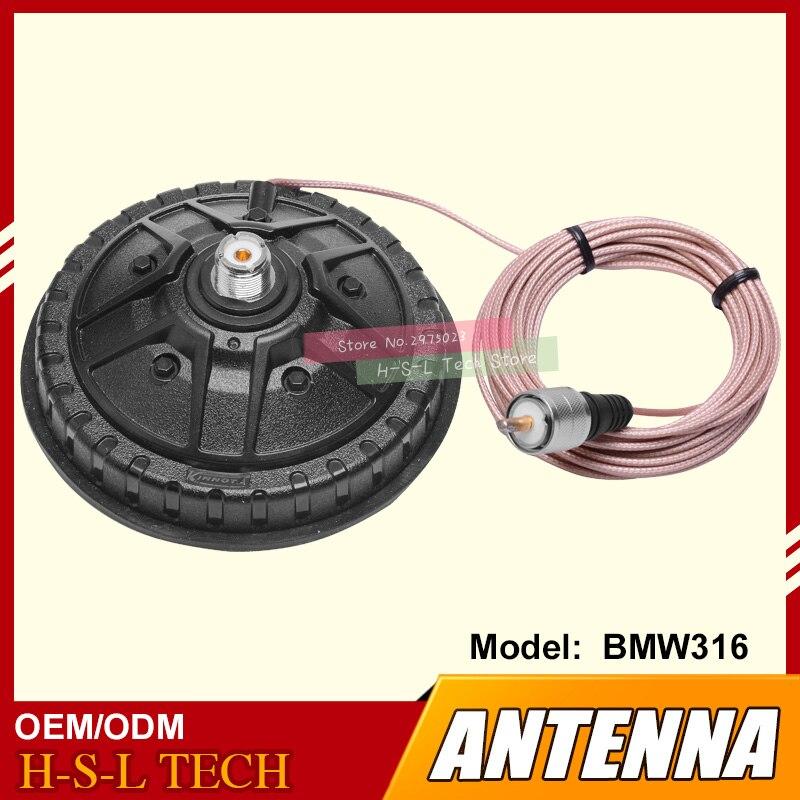Большой магнитный фидерный кабель, рация, магнитное основание антенны для автомобильной антенны, Мобильная Автомобильная двухсторонняя ра...