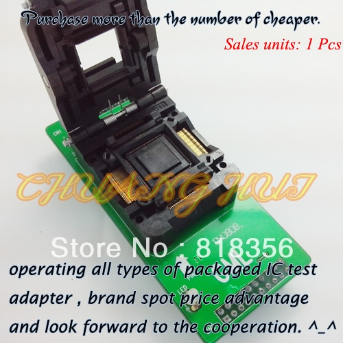 GA-TQFP128-04 Programmer Adapter IC51-1284-1788 QFP128/TQFP128 Adapter IC Test Socket/IC Socket