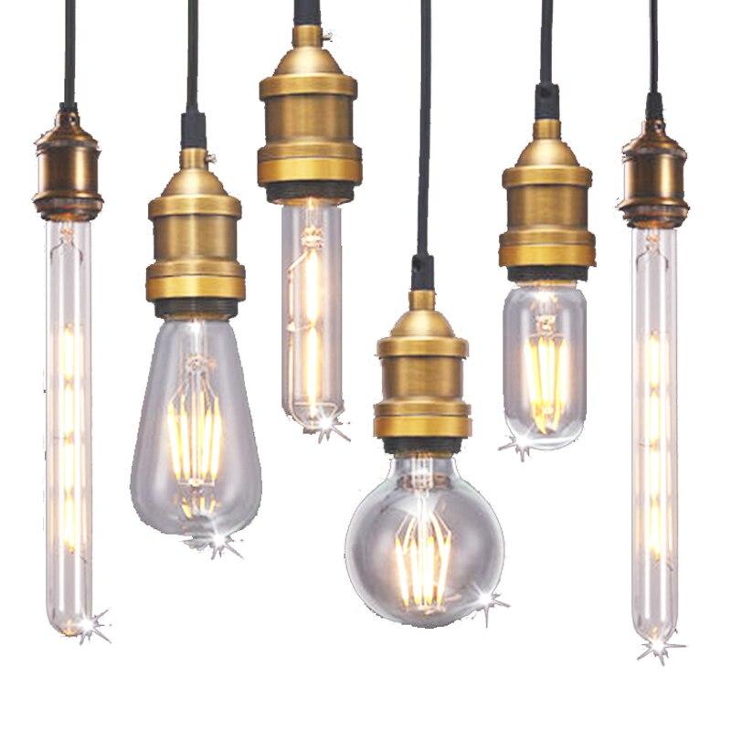 Retro Vintage Edison LED Bombilla E27 filamento llevó la Lámpara 2 W 4 W 6 W 8 W Cristal de luz LED bombilla 220 V 240 V Lampada ampolla LED Bombilla