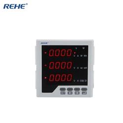 REHE RH-3D3J 96*96MM Poder de Monitoramento de Energia Elétrica Multifuncional Inteligente Single Digital Ampere Medidor