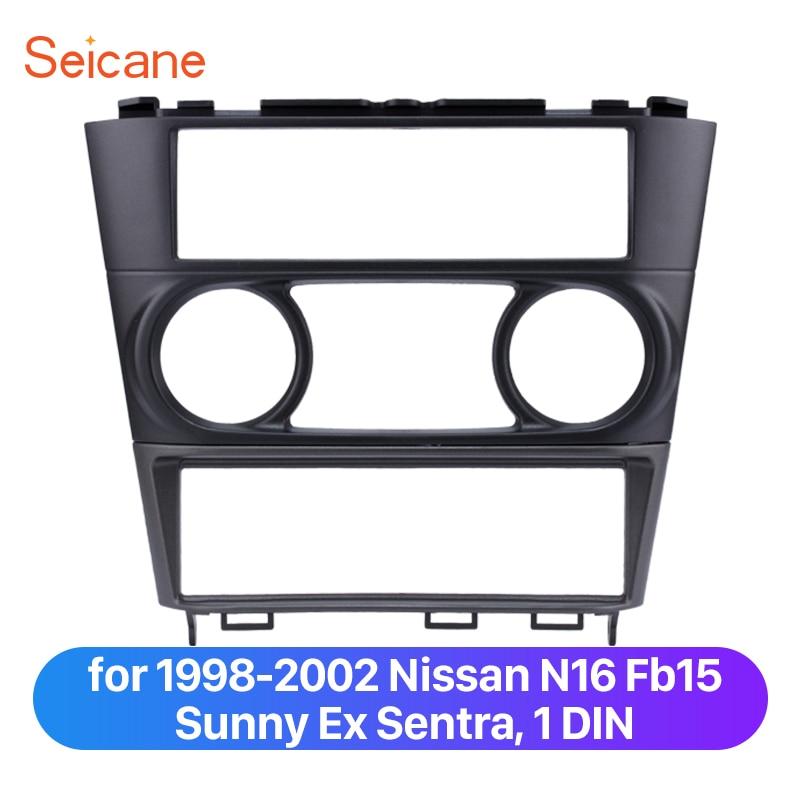 Seicane Bir Din Araba Fasya Montaj çerçeve kiti için 1998-2002 Nissan N16 Fb15 Sunny Ex Sentra Trim Çerçeve Plaka