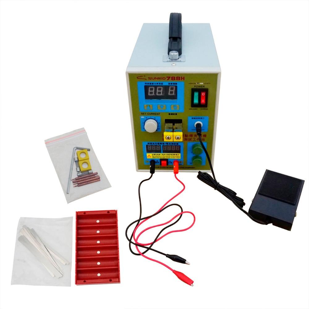 Free shipping 2200V Battery Spot Welder 788H Welding Machine Battery Charger LED Pulse Battery Spot Welder788H Welding Machine