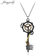 Nowe mody mężczyzna biegów klucz Vintage metalowy naszyjnik biżuteria Retro kobiet/mężczyzn naszyjnik Steampunk naszyjnik