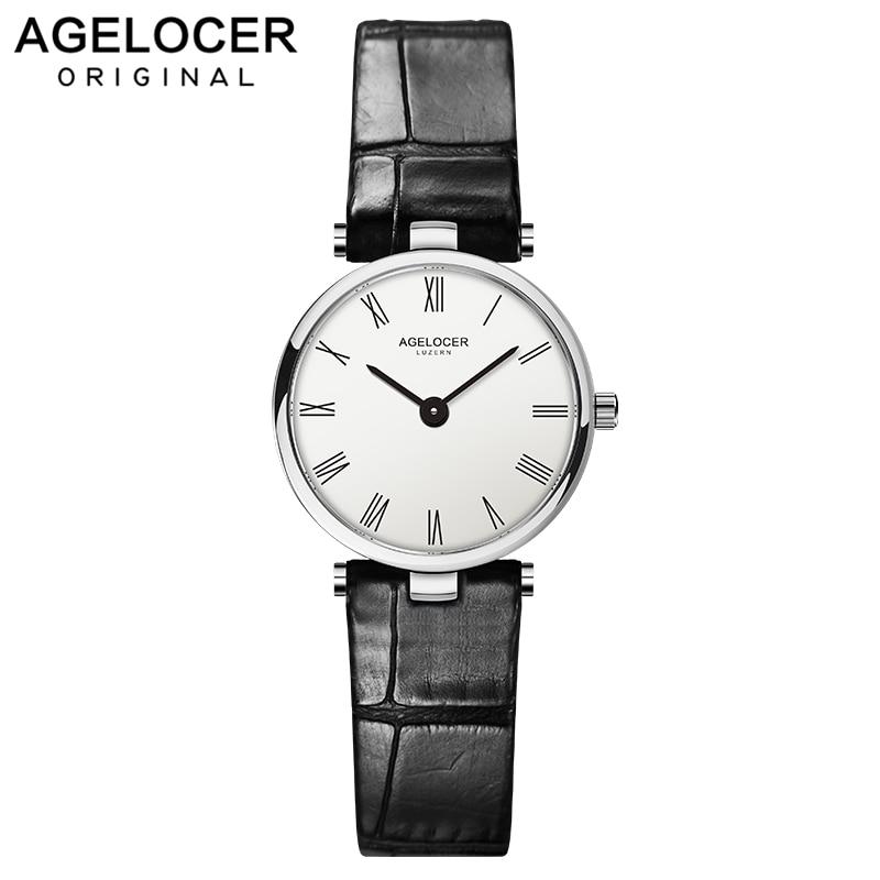 Relógios de Pulso para a Mulher Relógio para Mulheres Relógio de Pulso das Senhoras de Luxo da Marca Agelocer Famoso Quartzo Design Moda Superior Reloj Mujer