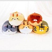 Peluche chat tigre sanglier jouet en peluche forme ronde animal doux poupée mignon gros cochon en peluche enfants jouets éléphant oreiller cadeau danniversaire