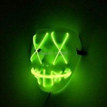 Vente chaude vacances éclairage EL fil Halloween masque film dessin animé masque clignotant Festival LED néon brillant carnaval masque