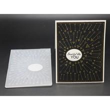 3D PP Geprägte Board Transparent Pfeil Metall Schneiden Stirbt Schablonen für 2019 DIY Scrapbooking foto album Präge Papier Karten