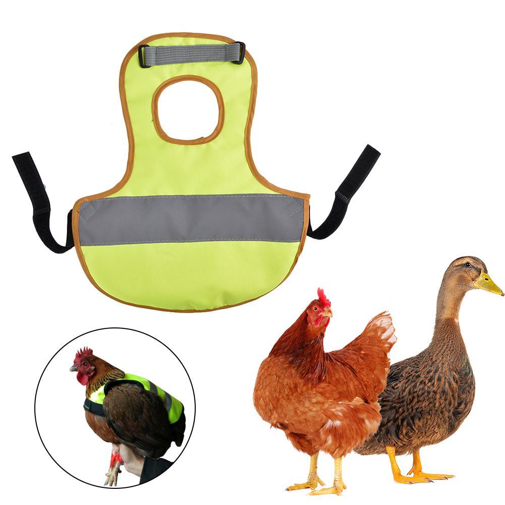 Chaleco reflectante para mascotas, ropa con motivo de pollo, aves de corral, silla de montar, delantal, soporte de protección de plumas para pollo y pato, entrega rápida