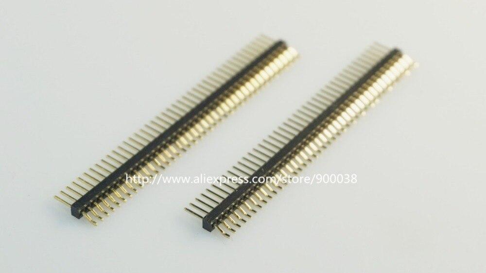 10 piezas 1x40 P 40 Pin 1,27mm macho Pin encabezado una sola fila ángulo recto SMT/SMD montaje de superficie PCB Rohs