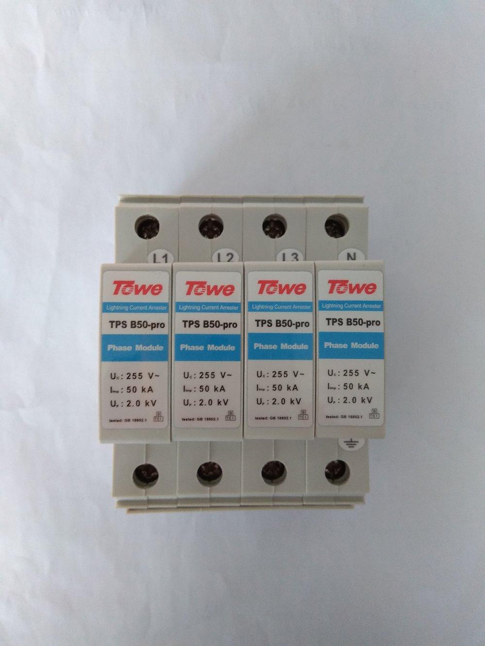Трехфазные блоки питания, класс B, для защиты зазора, 4 модуля Iimp:50KA, 10/350 до кв