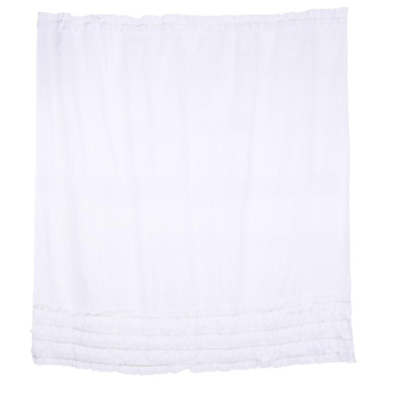 Cortina de ducha tela cortina de baño poliéster hojas impermeables Cortina de ducha Anti bacteriana impermeable con ganchos E5M1