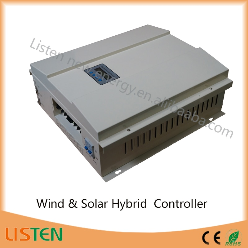 high voltage wind turbine 48V 2KW Buck function MPPT controller wind turbine solar hybrid charge controller 2kw wind 600w solar