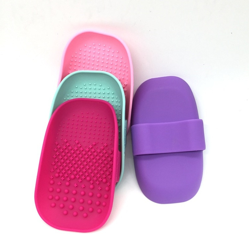 Многоцветная силиконовая щетка для макияжа, 1 шт., коврик для очистки косметических кистей, скраб, коврик для макияжа, профессиональные инструменты для мойки