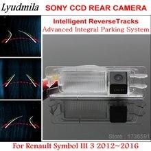Lyudmila-caméra de recul intelligente   Pour le symbole Renault III 3 2012 ~ 2016, vue arrière de la voiture/pistes de guidage dynamiques