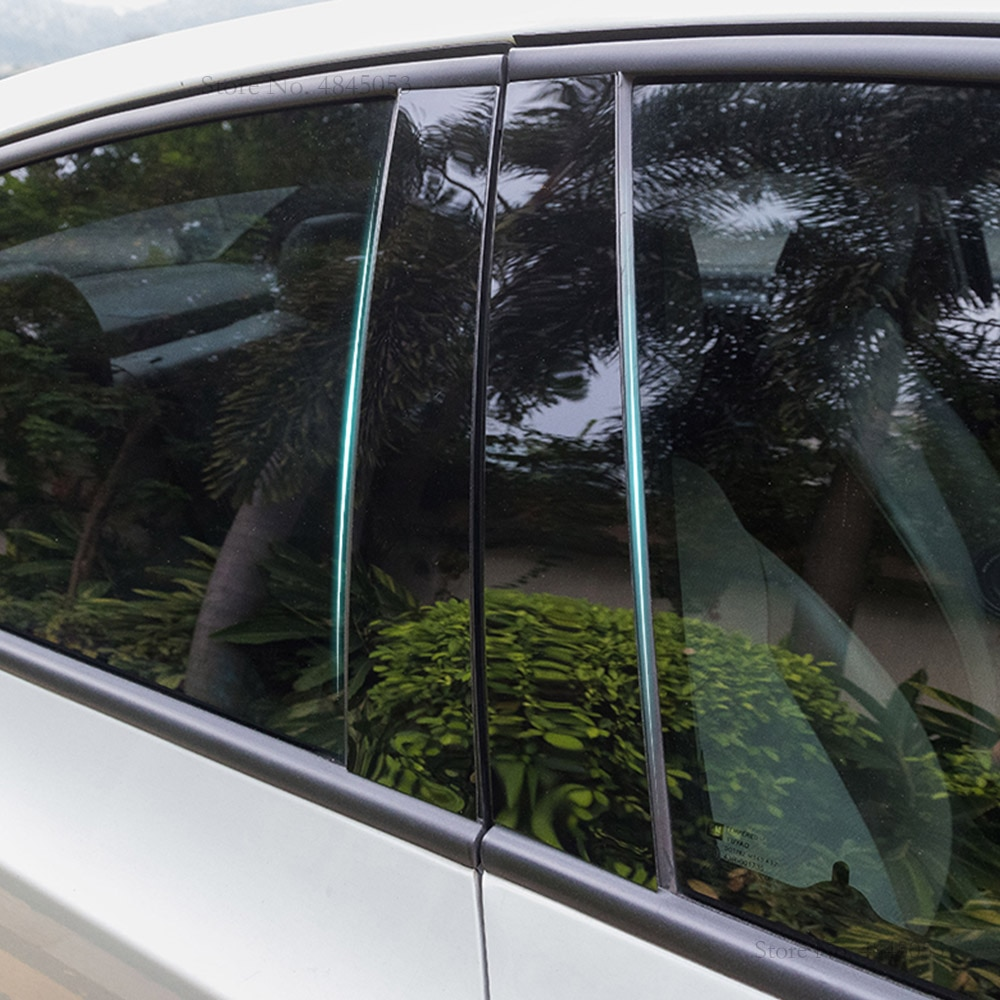 AITWATT para Toyota RAV4 RAV 4 2008-2017 PC Material toda la ventana central Pilar pegatina de cubierta embellecedora accesorios 8 Uds