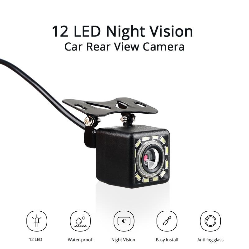 Car Rear View Camera Universal Auto Backup Parking Camera 12 LED Night Vision Waterproof  Wide Angle HD Color Image