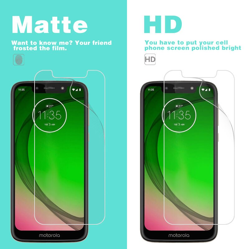 "Película brillante transparente HD para Moto G7 Play Plus G7 + XT1965 Power 5,7 ""6,24"" 6,2 ""Protector de pantalla mate Anti-huella digital"