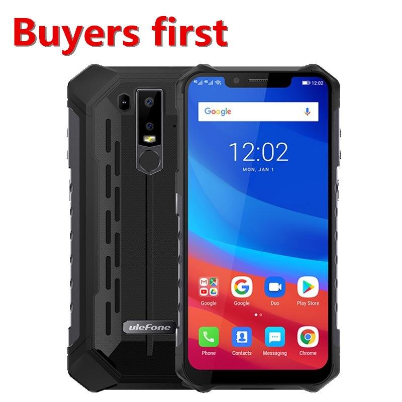 "2019 Ulefone armadura 6 5000mAh 4G LTE Smartphone 6,2 ""FHD Android 8,1 Helio P60 MT6771 21MP 6GB RAM 128GB ROM NFC OTG teléfono móvil"