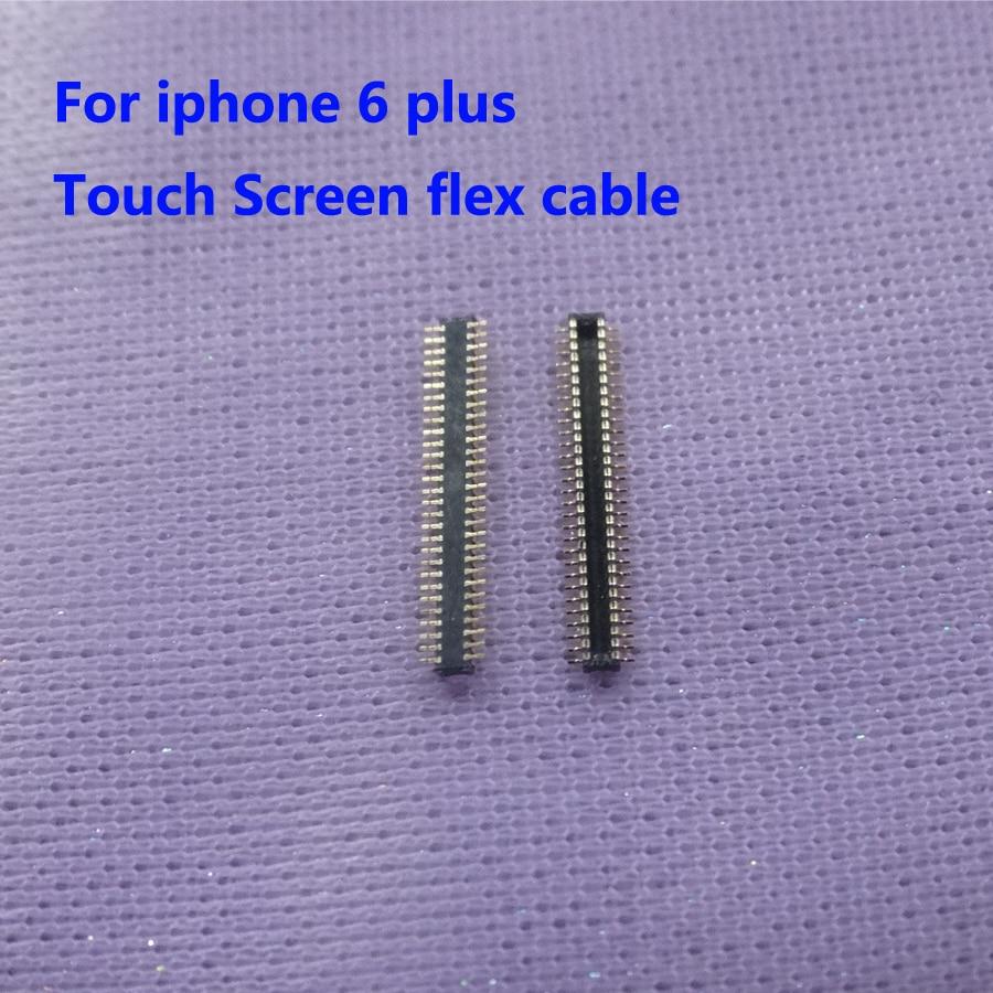 5 pzas/lote pantalla táctil FPC conector macho en la pantalla lcd cable flex para iphone 6 plus