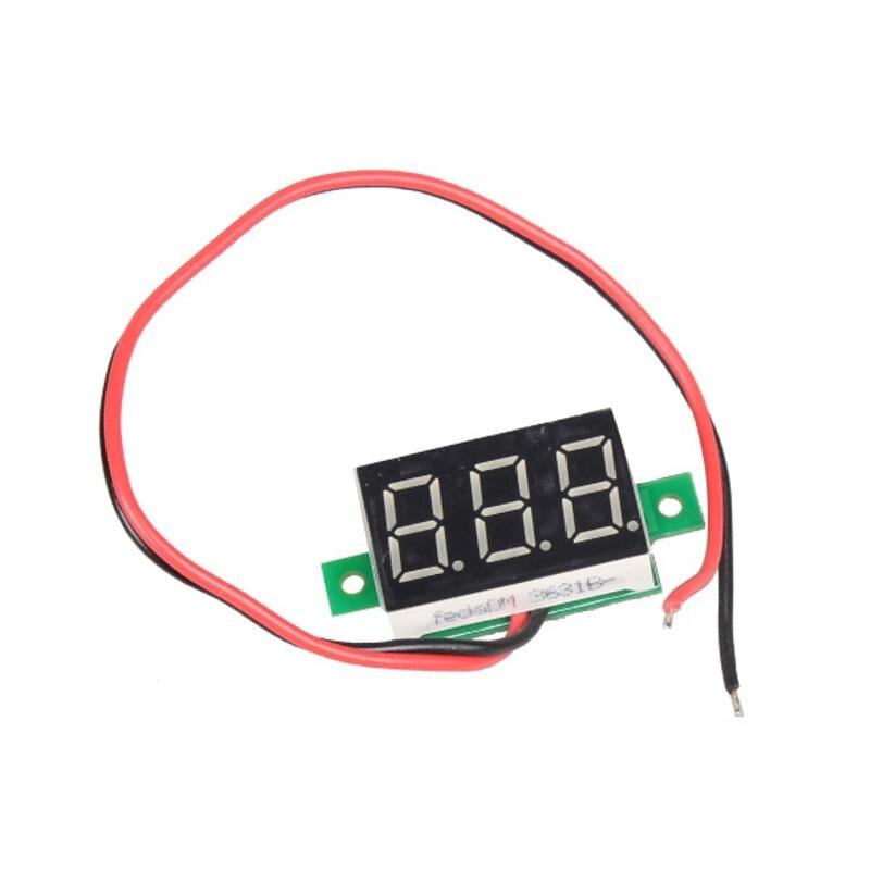 Mini voltímetro digital de 0,36 pulgadas amperímetro Mini LCD pantalla voltímetro amperímetro digital CC 2,5-30 V rojo LED voltimetro amperimet