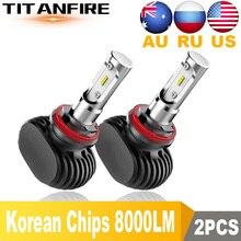 DS 2 pièces S1 Led H1 H3 H4 H11 H13 9005 9006 9007 9004   Phare Auto antibrouillard 50W 8000LM ampoule Automobile puces CSP 6500K