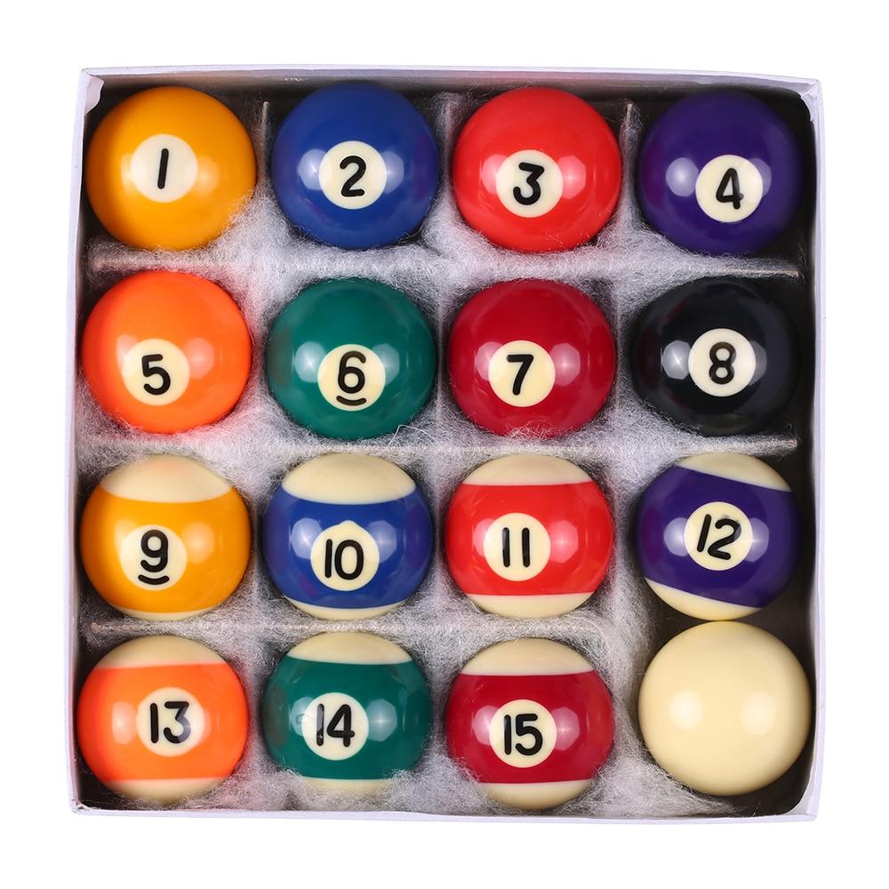 Conjunto profissional de bolas de mesa de crianças, 25mm/38mm, resina, pequena, bolas de taco, conjunto completo de 16 peças conjunto de bolas de bilhar