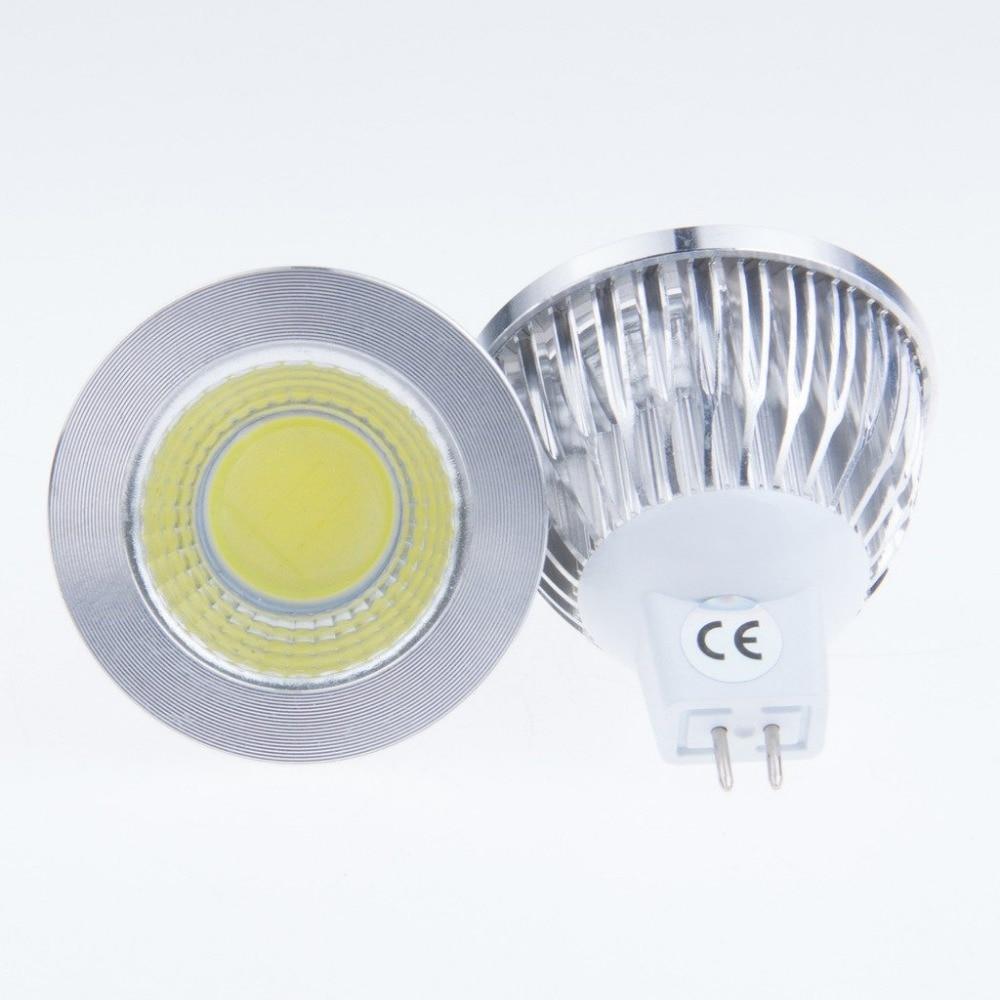 10 peças led lâmpada mr16 soquete 3w cob spotlight dc 12 v 3000 k 4000 k 6500 k branco quente natureza branco puro lâmpada led