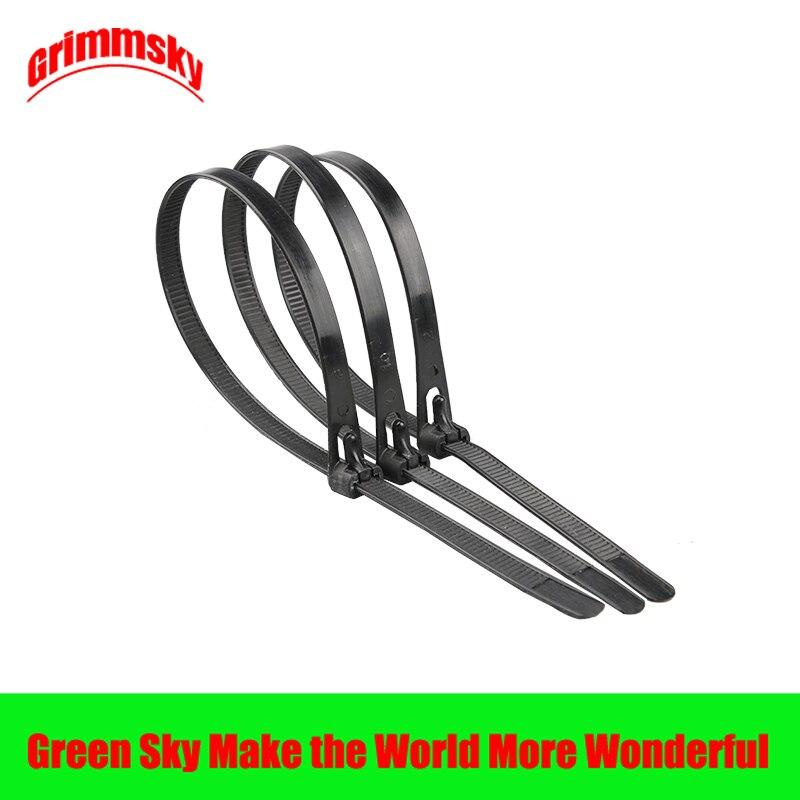 20pcs/lot black color 5*200/8*150/8*200/8*250/8*300/8*400/8*450mm 8/6/8/10/12/16/18inch nylon cable ties reusable