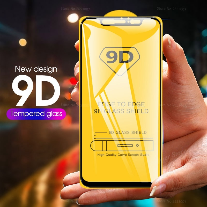 9D Full Cover Tempered Glass For Xiaomi Mi 9 Mi5X 6X A1 A2 Screen Protector Film For Xiaomi Mi 9SE Mi8 Mi A2 Lite 9 Case Glass
